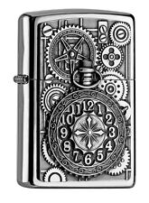 ZIPPO Benzin Feuerzeug Pocket Watch Emblem 2004742 NEU OVP