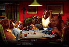Dogs Playing D&D (5th edition D&D version) full color poster, autographed