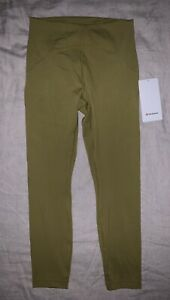 "Lululemon Instill HR Tight 25"" Pants Women's 8 Auric Gold Brand New NWT"