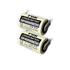 2x CR14250SE FT1 1/2 AA FDK 3V Lithium 850 mAh 2/1 Print Akku Batterie