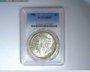 1881 Morgan Dollar PCGS MS62 ( 46-307 5M/o )