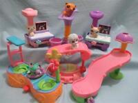 Littlest Pet Shop Lot 10 Random Figures X-ray Accessories Playsets Surprise Lps