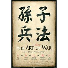 "THE ART OF WAR - SUN TZU - FIVE WORKING FUNDAMENTALS 91 x 61 CM 36 x 24"" POSTER"