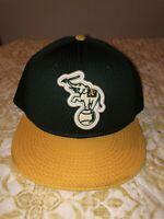 Oakland As Athletics Mesh Stomper MLB Snapback Hat Green Yellow