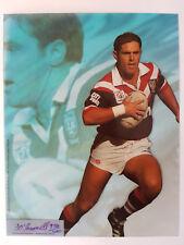 1996 MASTER CEL ACETATE CARD: Brad Fittler - RARE Authenticated 274/400