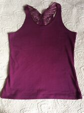 """Matthew Williamson butterfly cotton vest style top 15/16 yrs (size 6 32"""") NWT"""