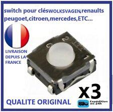 3 Interrupteur Switch Bouton Plip Clé Renault Clio3 MODUS TWINGO 2 MASTER TRAFIC