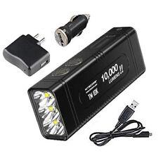 NITECORE TM10K Flashlight -Rechargeable Battery Pack w/USB Cord & USB Adapters