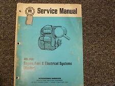 International Harvester Kohler Engine Fuel & Electrical Systems Service Manual