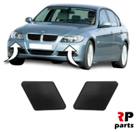 FOR BMW 3 SERIES E90 E91 04-08 NEW FRONT HEADLIGHT WASHER COVER CAP PRIMED PAIR