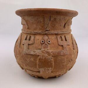 Signed Tribal Pottery 1955 Native Vintage Brazil P Pedras Marajo Amazon Vase VTG