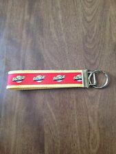 Bazinga wristlet key fob holder key chain zipper pulll