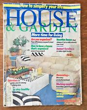House & Garden Magazine 1976 Alfredo De Vido Pool House Paul Bocuse Philadelphia