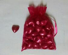 50 Strawberry Heart shaped bath oil beads