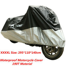 New 190T UV 295x110x140cm Rain Dust Protector Waterproof Motorcycle Cover XXXXL
