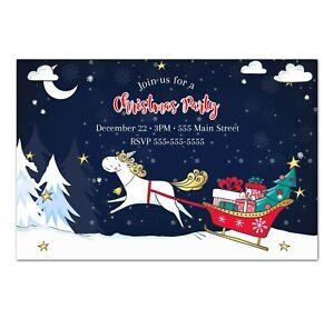 30 christmas unicorn holiday birthday baby shower greeting cards personalized