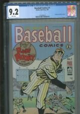 BASEBALL COMICS 1 KITCHEN SINK 1991 EISNER COVER & ART CGC NM- 9.2 WHITE PAGES