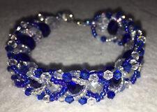 Ilde (bracelet) de Yemaya con cuentas de cristal