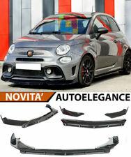 0143 FIAT 500 / 500 ABARTH SPLITTER PARAURTI ANTERIORE NERO LUCIDO LOOK RS