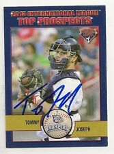 Tommy Joseph 2013 Lehigh Valley IronPigs I.League Top Prospects Signed Card