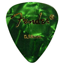 12 Fender Plettri Chitarra Verde guitar picks Green 0.58 CELLULOID  - SALE!!