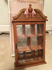 Small Wooden Vintage Curio Display Case for Miniature Free Standing/Wall Hanging