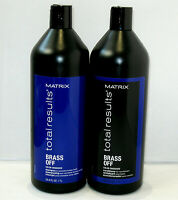 Matrix Brass Off Shampoo & Conditioner 33.8 oz Liter Set SEALED Color Obsessed