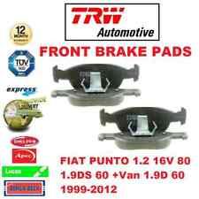FOR FIAT PUNTO 1.2 16V 80 1.9DS 60 +Van 1.9D 60 1999-2012 FRONT BRAKE PADS SET