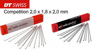 4 Speichen 280 mm DT-Swiss Competition 2,0 x 1,8 x 2,0 mm schwarz oder silber