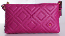 NWT Tory Burch Fleming Quilted Leather Chain Crossbody Handbag in Party Fuchsia