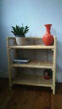 Vintage Retro Bamboo / Cane / Wicker Shelves, Book Case