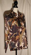 NWT Zara Camouflage Shirt In Khaki Size M