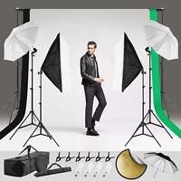 Photography Studio Lighting Kit Upgraded 100%Polyester Backdrop Umbrella Softbox