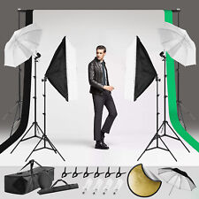 Photography Studio Lighting Kit Upgraded 100%Polyester Backdrop Umbrella Softbox