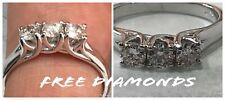Anello Oro Bianco 18 kt Trilogy Diamanti 0,33 Carati f color vs1 Regalo Mamma