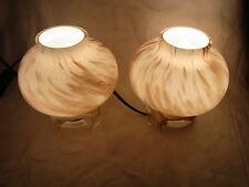 Paar Mid Century 70er Glas Tisch Nachttisch Lampen Süssmuth Panton Eames Time #^