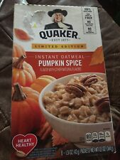 New listing Quaker Instant Oatmeal Limited Edition Pumpkin Spice 1 box -8 packets