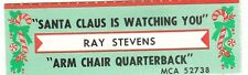 Juke Box Strip RAY STEVENS - SANTA CLAUS IS WATCHING YOU / ARM CHAIR QUARTERBACK