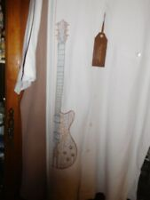 Tori Richard FAB NEW NWT Rockabilly Shirt Guitar Embroidered M Cream Bar Lounge