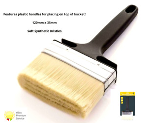 2x Large 5'' Paint Brush Wallpaper Paste Painting Emulsion Walls Ceilings Fence