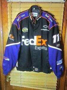 Chase Authentics Denny Hamlin #11 FedEx NASCAR Joe Gibbs Racing Jacket Men's 3XL