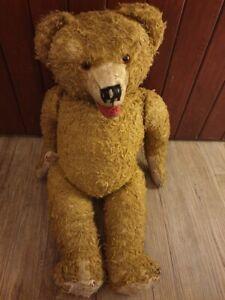 grosser antiker Teddy , DDR , 55 cm , brummt