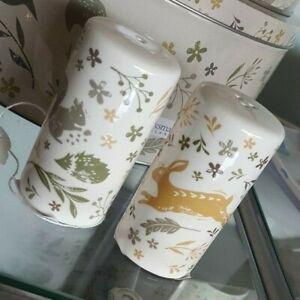 Cooksmart Woodland Collection salt & pepper pots/shakers, hare / squirrel design