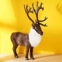 Realistic Elk Simulation Toy Lifelike Stuffed Animal Kids Toy Doll Best Y5F7