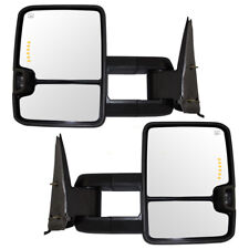 Cadillac GMC Chevy Pickup Set Tow Performance Power Mirrors Heated Amber Signal