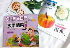 CHINESE LANGUAGE VEGETABLE FRUIT PIN YIN PRONUNCIATION ENGLISH BOOK CHILDREN A7