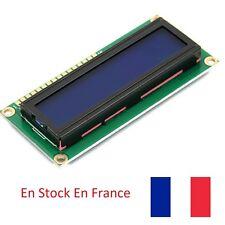 Ecran LCD afficheur module 1602 Bleu DIY  Arduino Raspberry