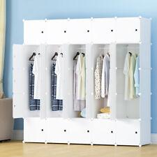 Wardrobe Closet Armoire Storage Organizer w/ Doors 10 Cubes 5 Hanger Bedroom New