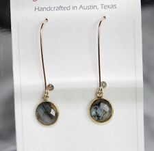 NWT 14kt Gold-Filled Earrings (dangle) with Labradorite Gemstones
