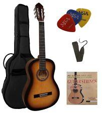 4/4 Gitarre Einsteiger Set Konzertgitarre mit praktischem Zubehör Tasche Band !